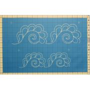 Full Line Stencil Feather Swirled Border by Hancy Full Line Stencils Pounce Pads & Quilt Stencils - OzQuilts