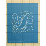 "Full Line Stencil Dream Feather Square 6"" by Hancy Full Line Stencils Pounce Pads & Quilt Stencils - OzQuilts"