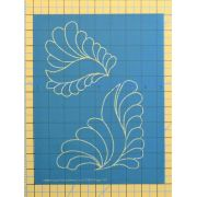 Full Line Stencil Dream Feather S-Shape Triangle 2x by Hancy Full Line Stencils Pounce Pads & Quilt Stencils - OzQuilts