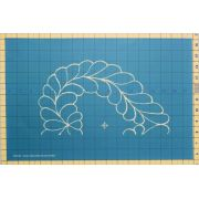 Full Line Stencil 12 Inch Heart Feather by Hancy Full Line Stencils Pounce Pads & Quilt Stencils - OzQuilts