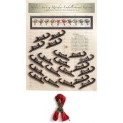 Glee Skating Reindeer Embellishment Kit Only by Happy Hollow Designs - Christmas