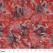 Brolga Dreaming Red by Nambooka by M & S Textiles Cut from the Bolt - OzQuilts