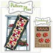 Topsy Turvey Santa Pattern and Embellishment Kit by Happy Hollow Designs - Christmas