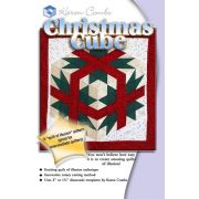 Christmas Cube Pattern Pattern & Acrylic Templates by Karen Combs by Karen Combs - 3D Quilts