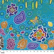Summertime Rainforest Blue by Heather Kennedy by M & S Textiles - Cut from the Bolt