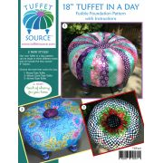 """Fusible 18"""" Tuffet In a Day Pattern & Fusible Interfacing with Instructions and 4 inch Button by Tuffet Source - Table Toppers, Tuffets & Runners"""