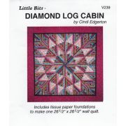 Diamond Log Cabin Pattern and Tissue Foundation Papers by A Very Special Collection Patterns & Foundation Papers - OzQuilts
