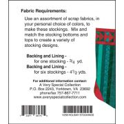 Holiday Stockings Pattern and Tissue Foundation Papers by A Very Special Collection - Christmas