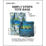 Simply Strips Tote Bags Pattern and Tissue Foundation Papers by A Very Special Collection Patterns & Foundation Papers - OzQuilts
