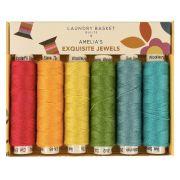 Edyta Sitar Laundry Basket Quilts Ellana Thread Pack - Amelia's Exquisite Jewels by Sue Spargo Ellana Wool - Sue Spargo Ellana 12wt Wool