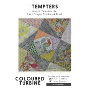 Coloured Turbine Tempter Patchwork Quilt Block Template set by Jen Kingwell Designs by Jen Kingwell Designs Jen Kingwell Designs Templates - OzQuilts