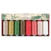 Edyta Sitar Laundry Basket Quilts Thread Pack - Noelle's Festive Carols by Wonderfil Tutti 50wt Cotton Variegated - Tutti 50wt Cotton Variegated