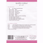 Sue Daley Quattro Colour Quilt - Pattern, Papers & Templates by Patchwork with BusyFingers Sue Daley EPP Notions - OzQuilts