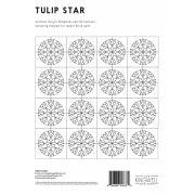 Tulip Star Tempter Patchwork Quilt Block Template set by Jen Kingwell Designs by Jen Kingwell Designs - Jen Kingwell Designs Templates