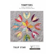 Tulip Star Tempter Patchwork Quilt Block Template set by Jen Kingwell Designs by Jen Kingwell Designs Jen Kingwell Designs Templates - OzQuilts