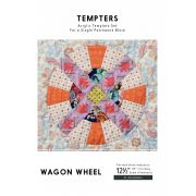 Wagon Wheel Tempter Patchwork Quilt Block Template set by Jen Kingwell Designs by Jen Kingwell Designs - Jen Kingwell Designs Templates