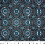 Alura Seed Dreaming Australian Aboriginal Art Fabric in Blue by Karen Bird by M & S Textiles Cut from the Bolt - OzQuilts