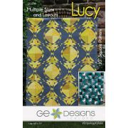 Lucy Quilt Pattern For the Stripology XL or Stripology Squared Rulers by Gudrun Erla by GE Designs Quilt Patterns - OzQuilts