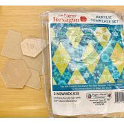 "The New Hexagon 2 By Katja Marek 54 Piece Acrylic Template Set with 3/8"" seam allowance by Martingale & Company - EPP Templates"