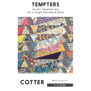 Cotter Tempter Patchwork Quilt Block Template set by Jen Kingwell Designs by Jen Kingwell Designs Jen Kingwell Designs Templates - OzQuilts
