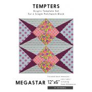 Megastar Tempter Patchwork Quilt Block Template set by Jen Kingwell Designs by Jen Kingwell Designs Jen Kingwell Designs Templates - OzQuilts