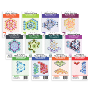 The New Hexagon Millefiori Quilt Along Rosette Complete Piece Pack by Katja Marek by Paper Pieces - Paper Pieces Kits & Templates