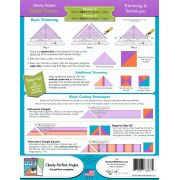 """Clearly Perfect Slotted Trimmer A2 - 5.5"""" to 10.5"""" sizes by New Leaf Stitches Specialty Rulers - OzQuilts"""