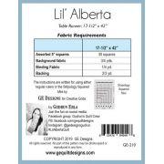 Lil Alberta Table Runner Pattern by Gudrun Erla by GE Designs - Quilt Patterns