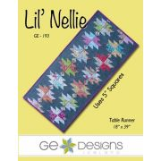 Lil Nellie Table Runner Pattern, by Gudrun Erla by GE Designs - Quilt Patterns