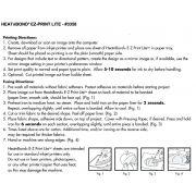 "HeatnBond EZ Print Sheets Lite 8.5"" x 11"" by Therm O Web Fusible Web - OzQuilts"