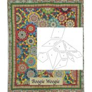 Boogie Woogie Halo Patchwork Template Set from Millefiori Quilts 4 by Willyne Hammerstein by OzQuilts Millefiori Book 4 & Templates - OzQuilts