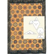 Creme Brulee Halo Patchwork Template Set from Millefiori Quilts 2 by Willyne Hammerstein by OzQuilts Millefiori Book 2 & Templates - OzQuilts