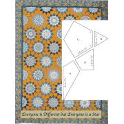 Everyone is Different but Everyone is a Star Halo Template Set by OzQuilts - Millefiori Book 4 Templates