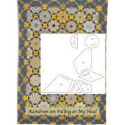 Raindrops are Falling on My Head Halo Patchwork Template Set from Millefiori Quilts 4 by Willyne Hammerstein by OzQuilts Millefiori Book 4 & Templates - OzQuilts