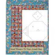 Send Flowers To Your Loved Ones Halo Patchwork Template Set from Millefiori Quilts 4 by Willyne Hammerstein by OzQuilts Millefiori Book 4 & Templates - OzQuilts
