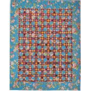 Send Flowers To Your Loved Ones Halo Template Set by OzQuilts - Millefiori Book 4 Templates