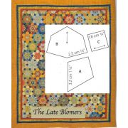 The Late Bloomers Halo Template Set by OzQuilts - Millefiori Book 4 Templates