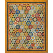 The Late Bloomers Halo Patchwork Template Set from Millefiori Quilts 4 by Willyne Hammerstein by OzQuilts Millefiori Book 4 & Templates - OzQuilts