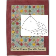 The Last Flowers After a Hot Summer Halo Template Set by OzQuilts - Millefiori Book 4 Templates