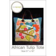 African Tulip Tote Pattern by Sue Spargo - Sue Spargo