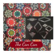 The Can Can Template Set from Millefiori Quilts 3- Halo Set in Original Size by OzQuilts - Millefiori Book 3