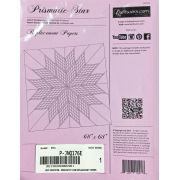 """Prismatic Star 68"""" x 68"""" Replacement Papers by Quiltworx - Judy Niemeyer Quiltworx"""