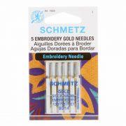 Schmetz Gold Titanium Embroidery, Machine Needles, Size 90/14 by Schmetz - Sewing Machines Needles