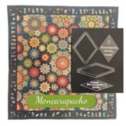 """Moncarapacho Template Set from Millefiori Quilts 3- Halo Set in 2"""" Size by OzQuilts - Millefiori Book 3"""