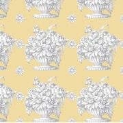 """Beige Stone Flower 108"""" Wideback by The Kaffe Fassett Collective - Stone Flower Quilt Backing"""