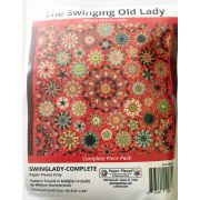 The Swinging Old Lady By Willyne Hammerstein of Millefiori Quilts Complete Paper Piecing Pack by Paper Pieces - Paper Pieces Kits & Templates