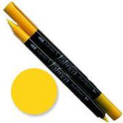 Tsukineko Fabrico Dual Marker - Lemon Yellow 111 by Tsukineko - Tsukineko Dual Tip Fabric Pens