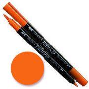 Tsukineko Fabrico Dual Marker - Tangerine 112 by Tsukineko - Tsukineko Dual Tip Fabric Pens