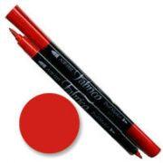 Tsukineko Fabrico Dual Marker - Poppy Red 114 by Tsukineko - Tsukineko Dual Tip Fabric Pens