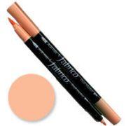 Tsukineko Fabrico Dual Marker - Apricot 132 by Tsukineko - Tsukineko Dual Tip Fabric Pens